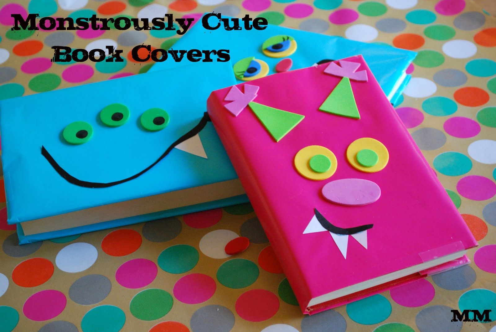 Craft On Book Cover : Another back to school idea monster book covers library