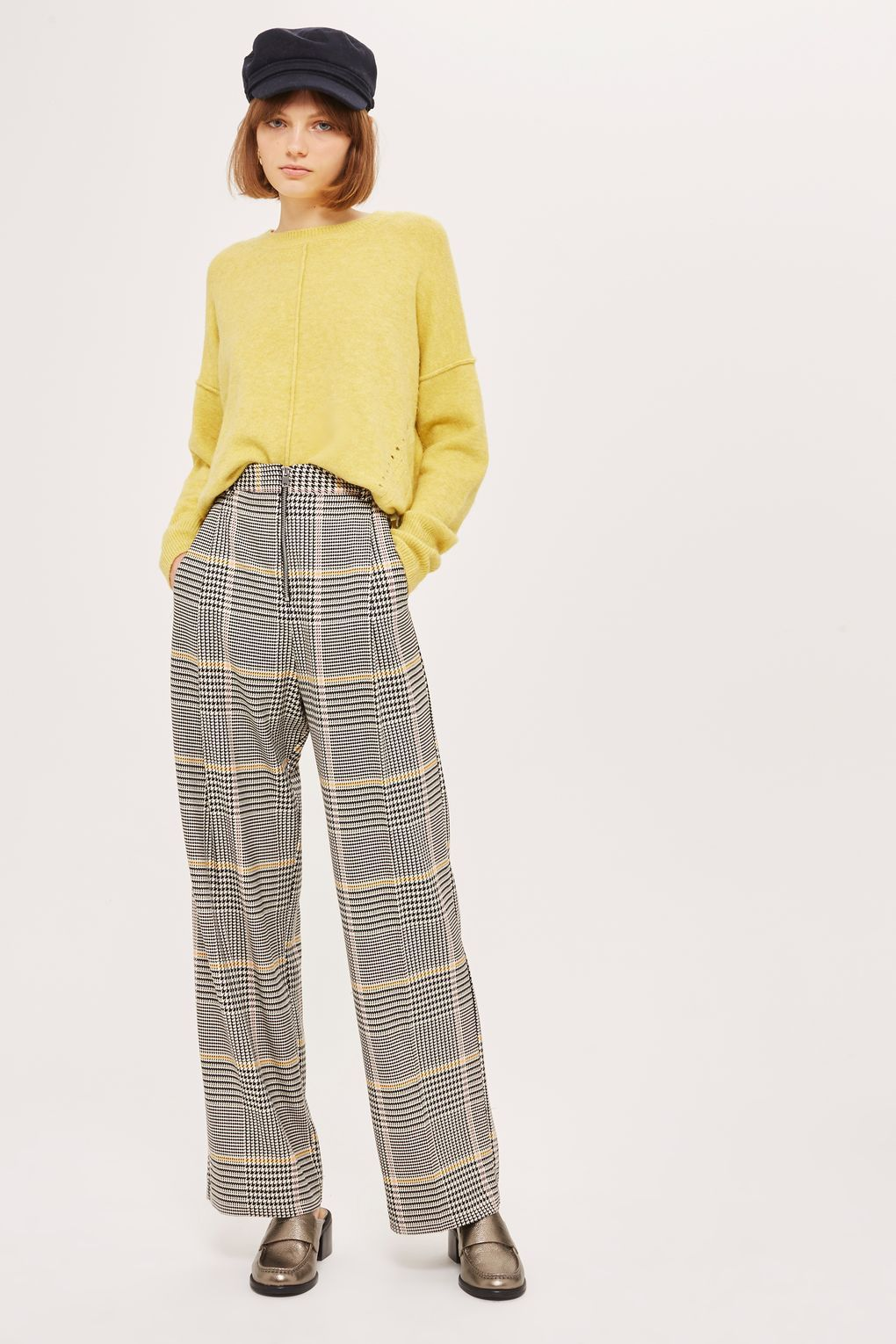 10d80721f91 Bright Checked Wide Leg Trousers - Pants   Leggings - Clothing ...