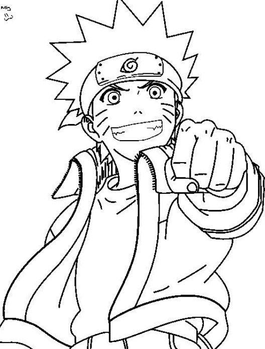 Image Result Gambar Kartun Diwarnai Anak Naruto Desain