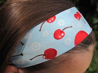 Flossie Teacakes: Shirred / Elasticated Headband Tutorial