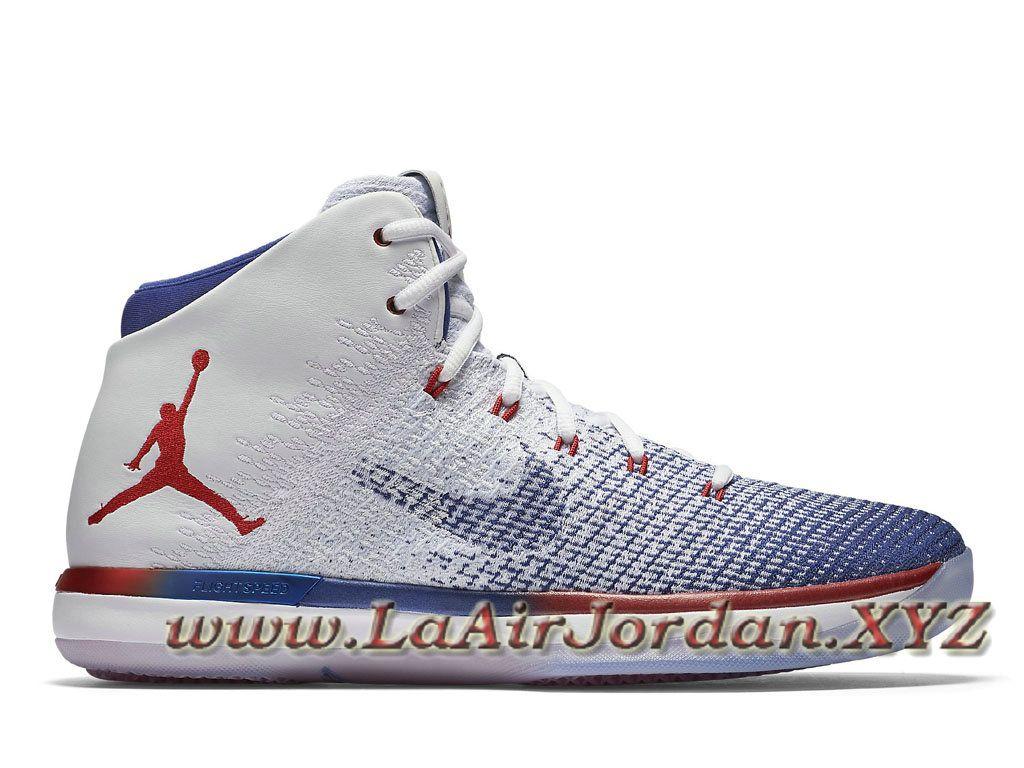 size 40 db91d 96ed6 Air Jordan 31 XXX1 Retro USA 845037 107 Chaussures Air jordan pas Cher Pour  Homme Blanc Bleu Air Jordan 31