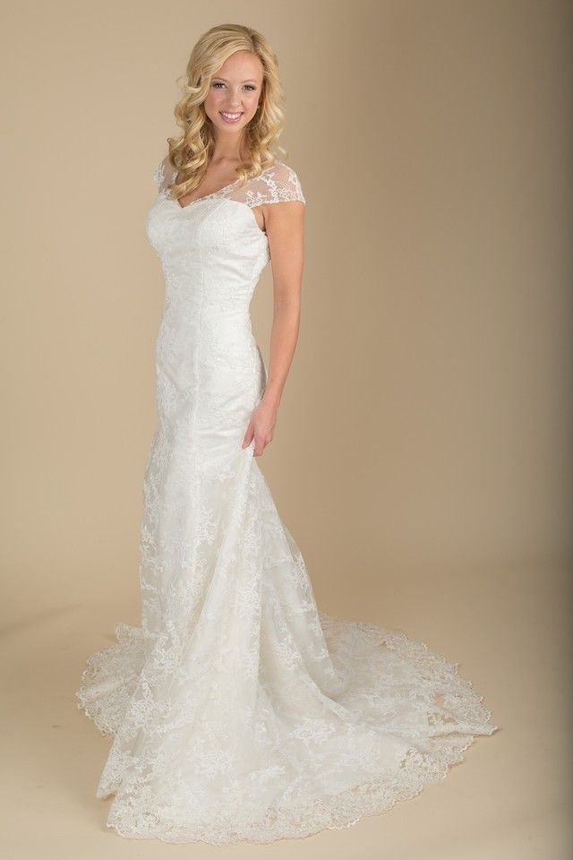 The Elizabeth gown from Claire Calvi. This gorgeous all lace gown ...