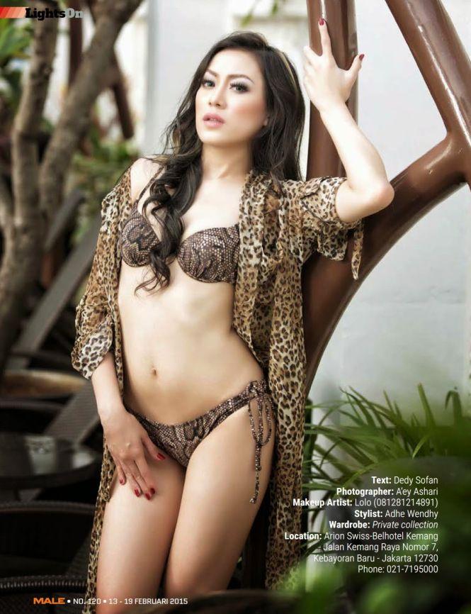 Models Lingerie Bikini Galeri Model Seksi Foto Ratu Frieska Di Majalah Male