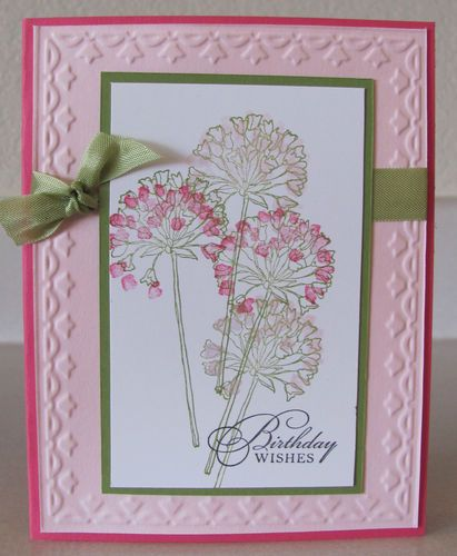 Birthday Wishes Framed Tulip Flower Handmade Card Kit With Some Stampin Up