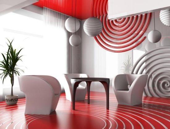 Wohnideen Wohnzimmer-rot modern salon deco Pinterest Sissi - bilder wohnzimmer rot