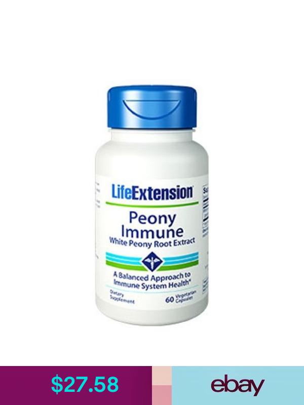Peony Immune White Peony Root Extract 60 Veggie Capsules Life Extension Life Extension Multivitamin Mineral Veggie Capsule