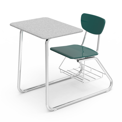 The Virco 3000 Series Sled Based Combo Unit School Furniture School Furniture Design Classroom Chairs