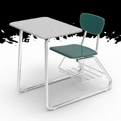 The Virco 3000 Series Sled Based Combo Unit Cadeiras Escolares