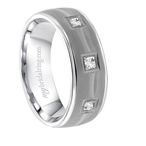 Beautiful Three Square Cut Diamond Band Buy From Various Styles of