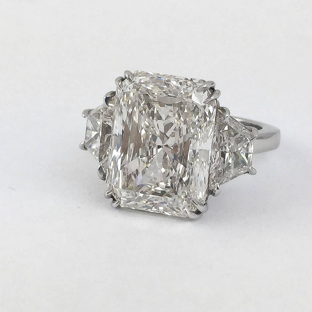 Ct radiant cut diamond platinum ring joyas pinterest