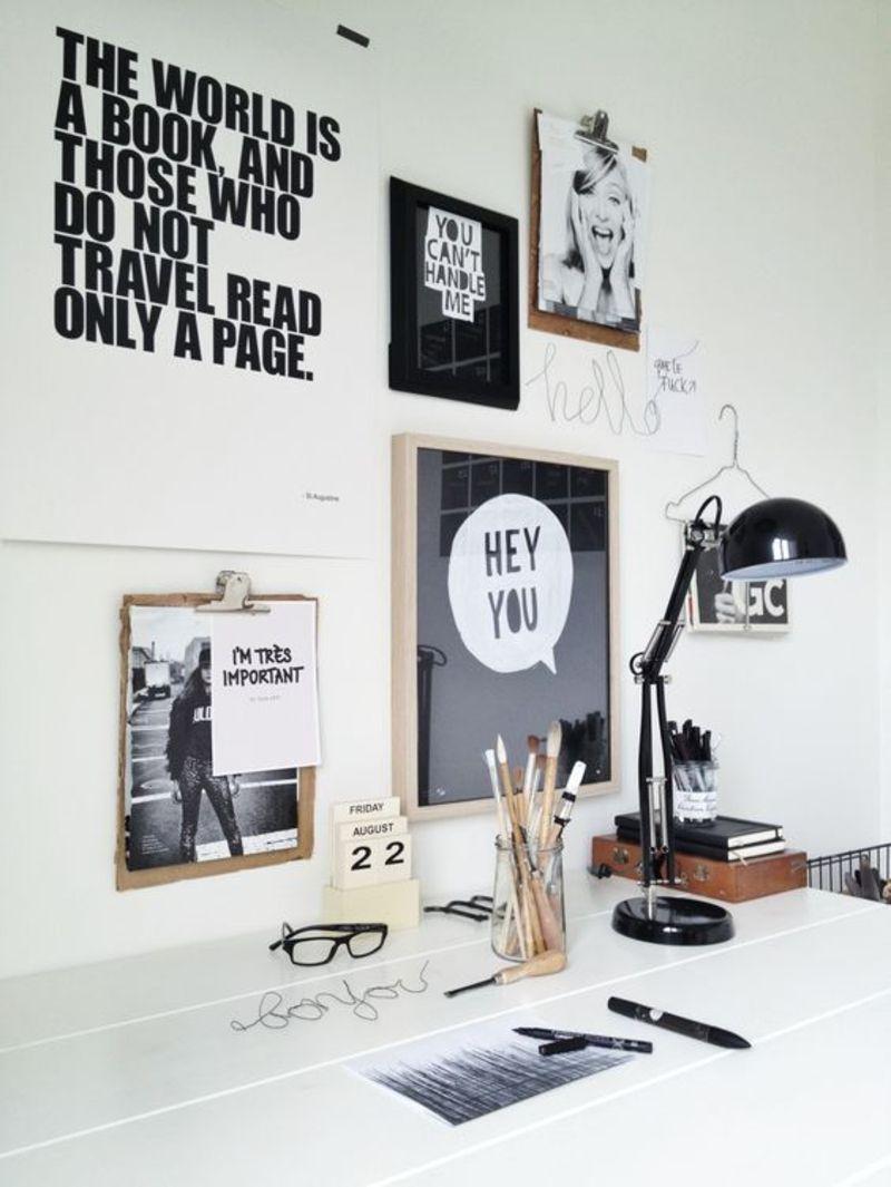 gem tlichen arbeitsplatz im wohnzimmer einrichten interior office and interiors. Black Bedroom Furniture Sets. Home Design Ideas