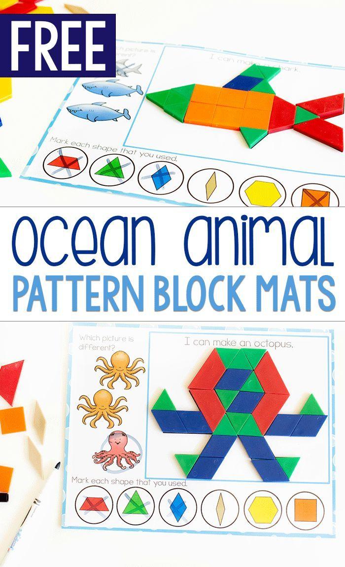 Kids love these pattern block mats!