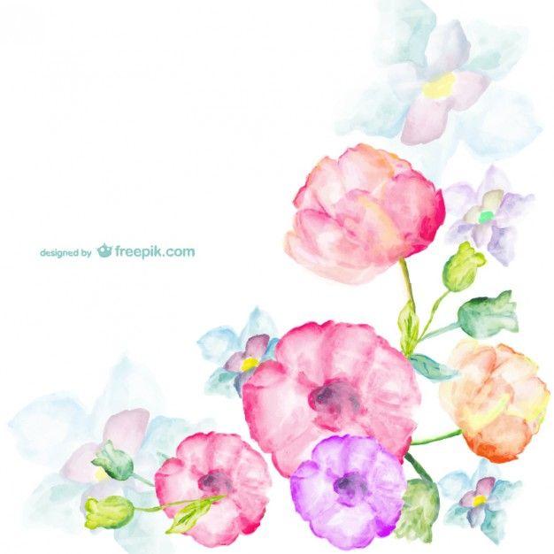 Watercolor Flowers Top Bottom Iphone 5 Wallpaper Iphone 5
