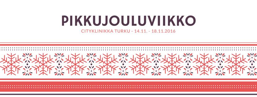 Cityklinikka Turku aloittaa pikkujouluviikon. 14.11. - 18.11.2016 saat laadukkaita palveluita uskomattomin juhlahinnoin! P. 045 611 7428.