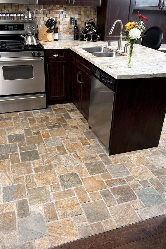 9 Popular Kitchen Floor Materials With Pros And Cons Kitchen Floor Kitchen Tiles Best Flooring For Kitchen Kitchen Flooring