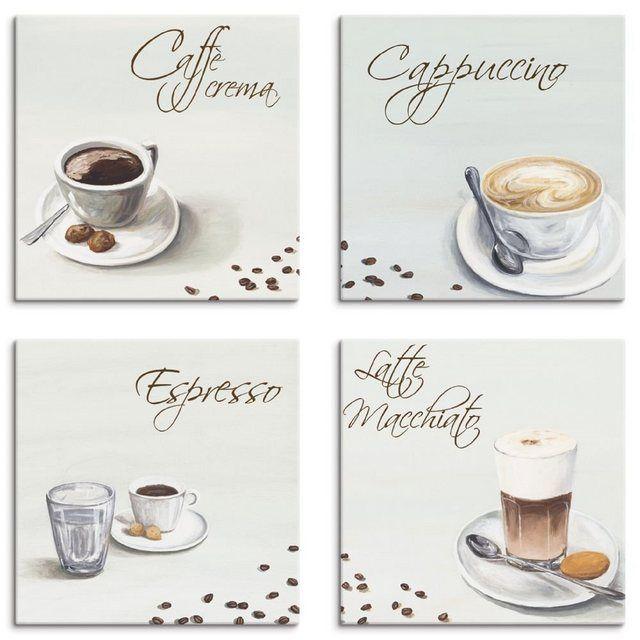 Leinwandbild »A. S.: Cappuccino Espresso Latte Macchiato« #lattemacchiato