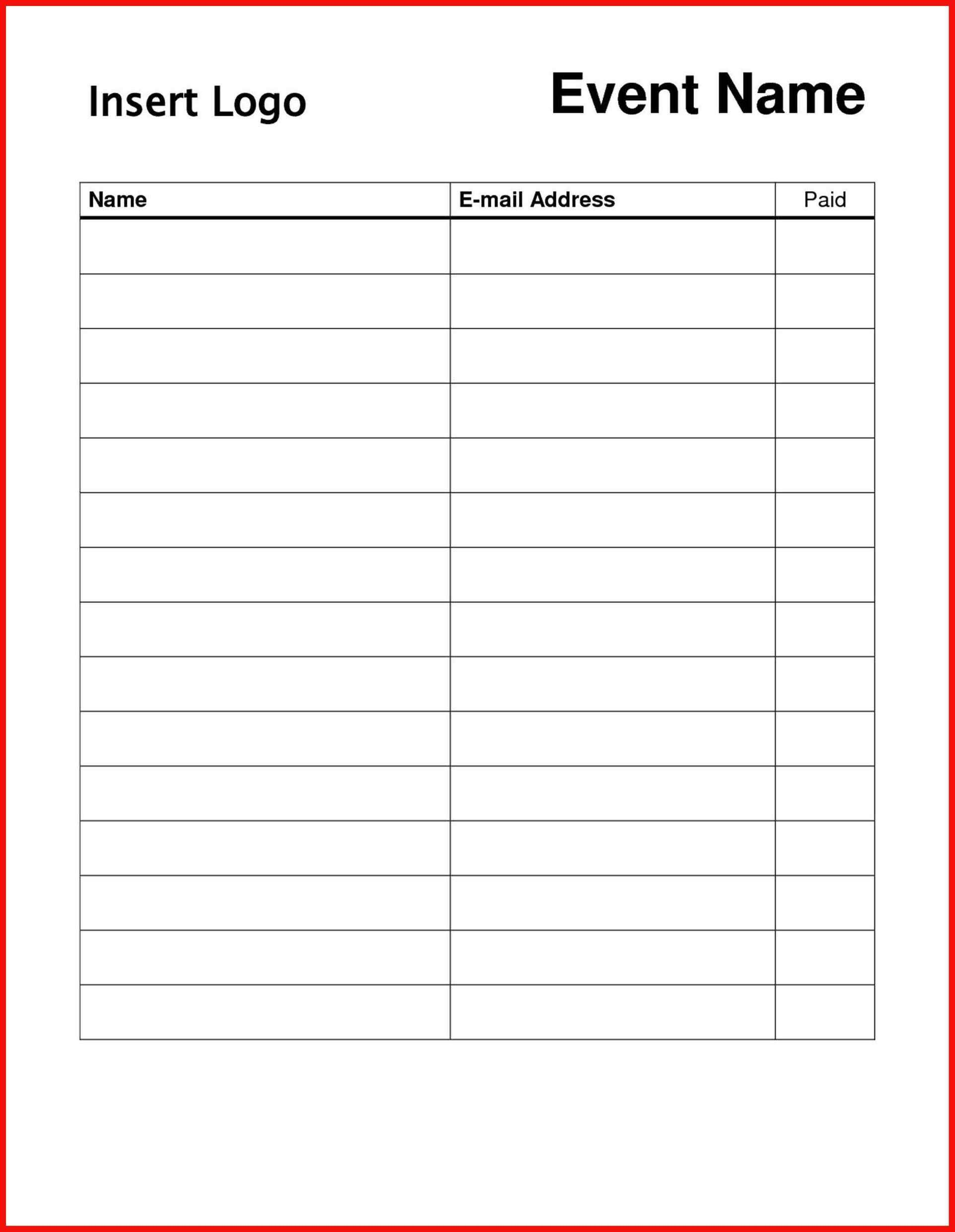 Sign Up Form Template Word Unique Free Sign Templates Word Sign In Sheet Template Sign In Sheet Business Hours Sign