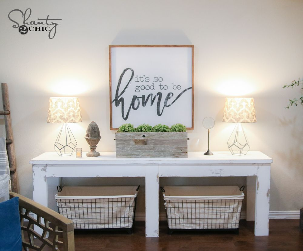 40 farmhouse console table consoles tutorials and board 40 farmhouse console table geotapseo Image collections