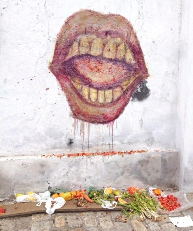 Image result for eating garbage paintings