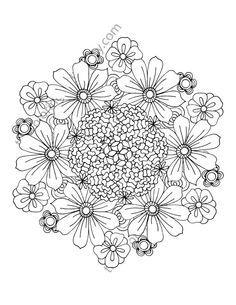 Flower Coloring Page Floral Adult Coloring Page Digital Mandala Pdf Floral Coloring Botanical Coloring Page Flower Colouring Sheet Mandala Coloring Pages Flower Coloring Pages Coloring Pages