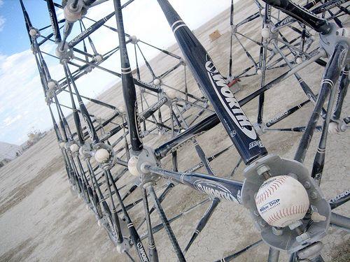 {243} Softball art, close-up by The Inadvertent Gardener, via Flickr