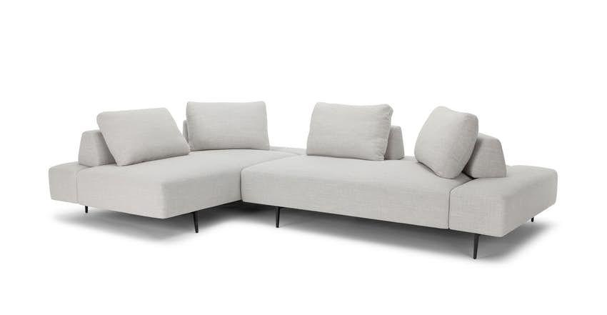 Divan Mist Gray Daybed In 2020 Mid Century Modern Sectional Sofa Modern Sofa Sectional Grey Sectional
