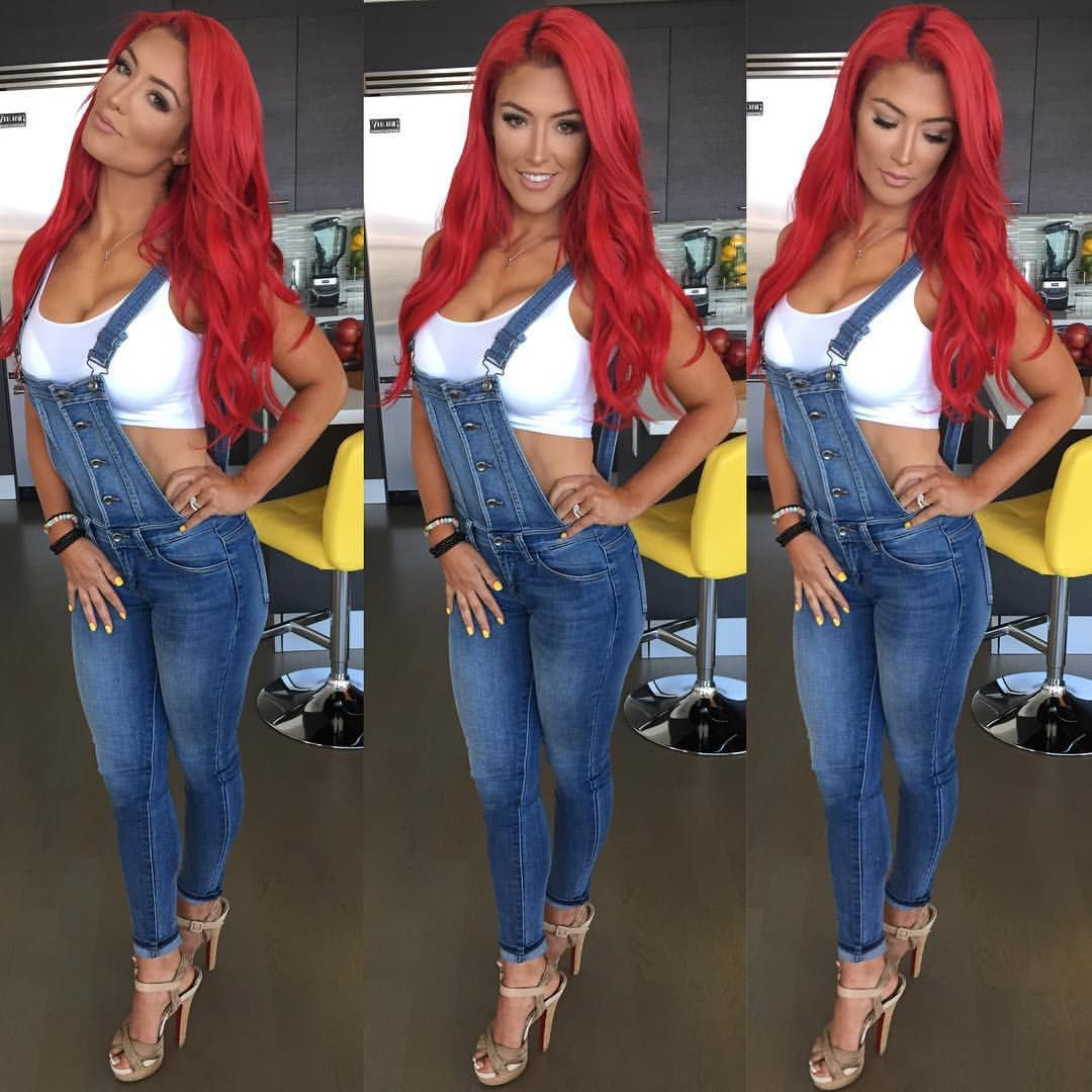 """Natalie Eva Marie on Instagram: """"I have received a lot of comments asking where I got the outfit from my last post!! Here ya go - Jean #Overalls : @fashionnova Shoes: @louboutinworld - #AllRedEverything @"""""""