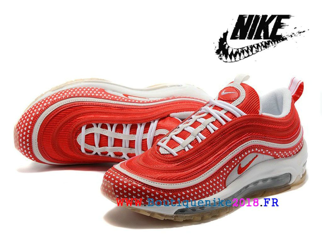half off b59bb 5f14b Chaussures Nike Air Max 97 GS Nouveaux produits Femme Prix Rouge Blanc  312834 ID004