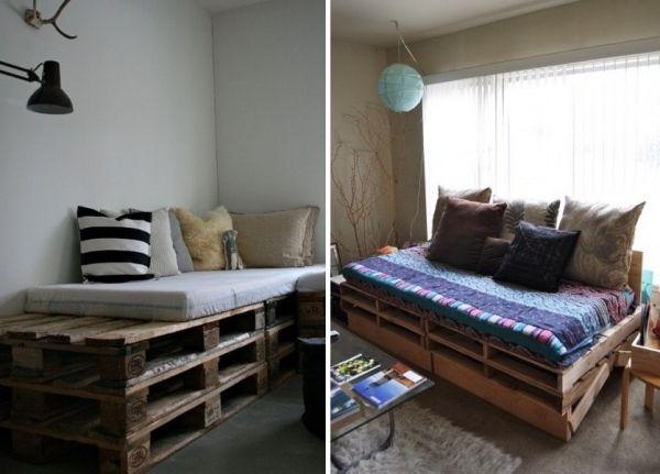 Möbel Holzpaletten Kleines Sofa Lounge Sitzecken Kissen ähnliche, Möbel