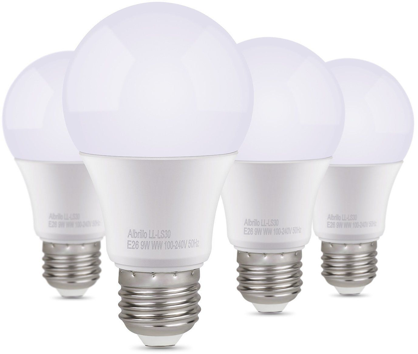14 99 For Albrillo 60 Watt Equivalent 9w E26 Led Bulbs 4 Pack Daylight Bulb 60 Watt Light Bulb Led