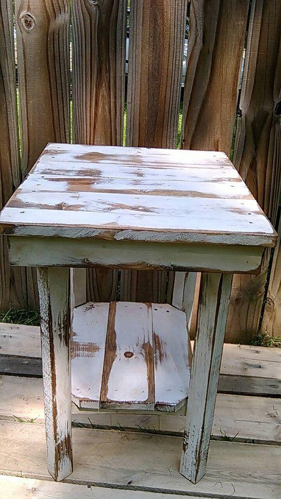 Reclaimed Wood Pallet Nightstand Pallet by ReclaimedPalletTrend