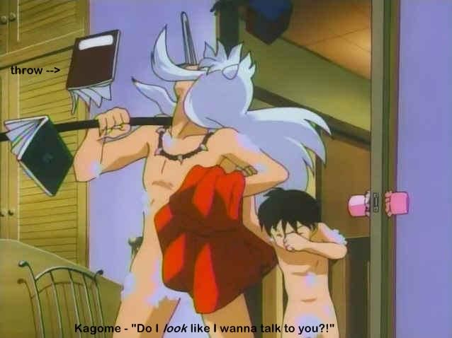 Kagome naked anime sorry, that