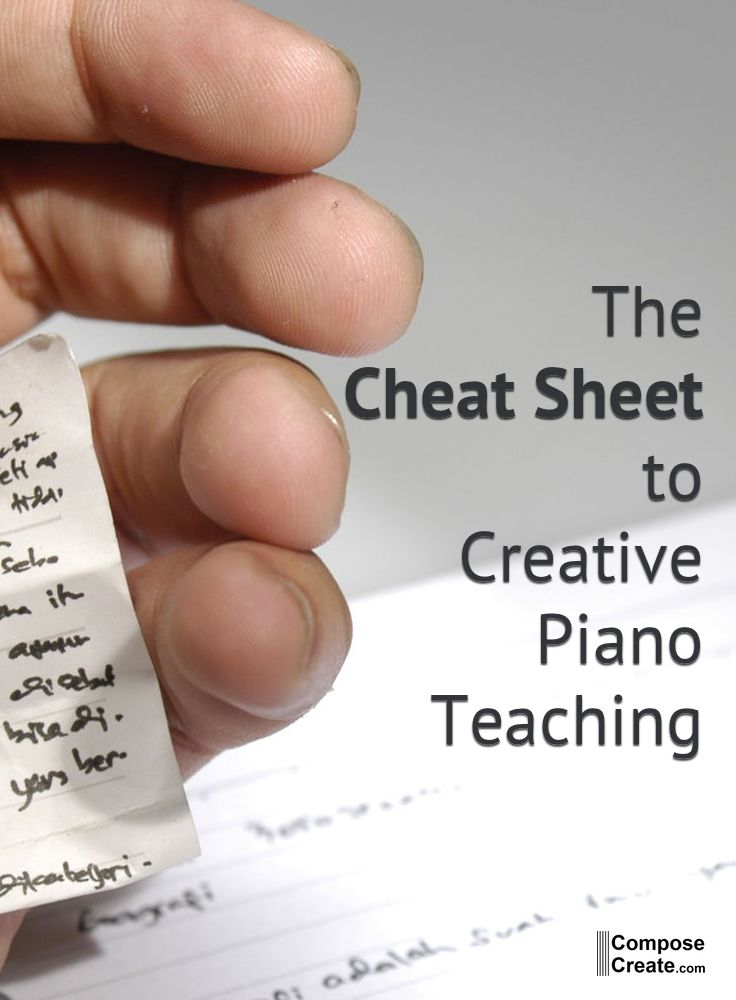 Creative Piano Teaching - A Guide and Cheat Sheet | Music Classroom