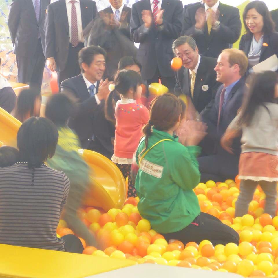 150228 Prince William & PM Abe in Fukushima