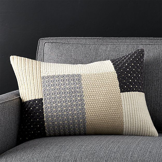 Ethan 40x40 Pillow With FeatherDown Insert Crate And Barrel Delectable Crate And Barrel Throw Pillow Inserts
