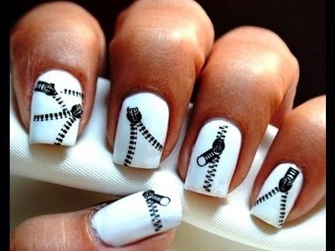 Zip Nail Art Designs Nail Polish How To Use Cute Nails Decals