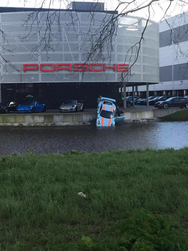 Dude picks up his new Porsche 911 GT3 RS at the dealership.... #Follow Me #CooliPhone6Case on Twitter Facebook Google Instagram LinkedIn Blogger Youtube