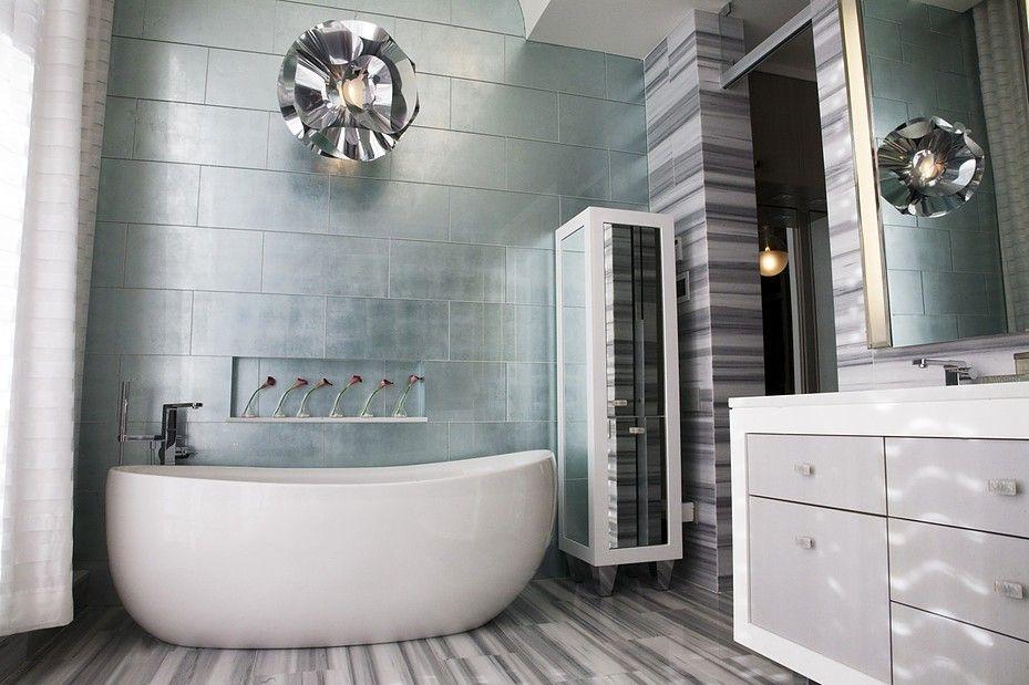 Large Format Tile Oregon Tile Marble La Leaf Glass Tile In Silver From Artistic Tile 12x24 Large Format Tile Bathroom Interior Natural Tile