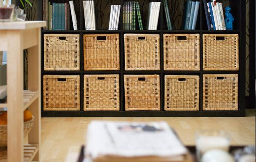 Branas Rattan Basket Cube Storage Storage Furniture With