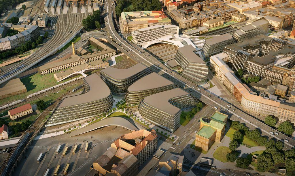 Revitalization near Masaryk Railway Station in the Czech