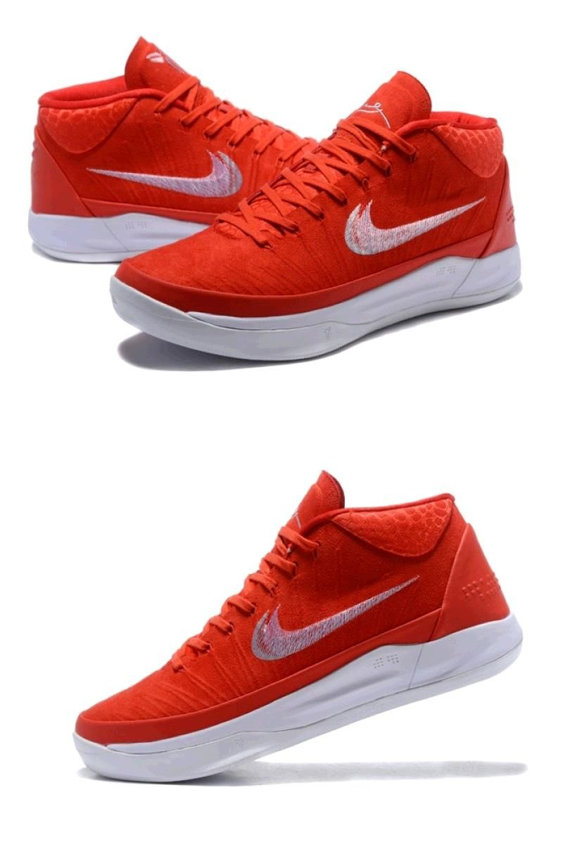2019 Time Limited New Arrival Nike Kobe A D Mid Ep Red White Men S Basketball Shoes In 2020 Nike Nike Shoes Jordans Basketball Shoes