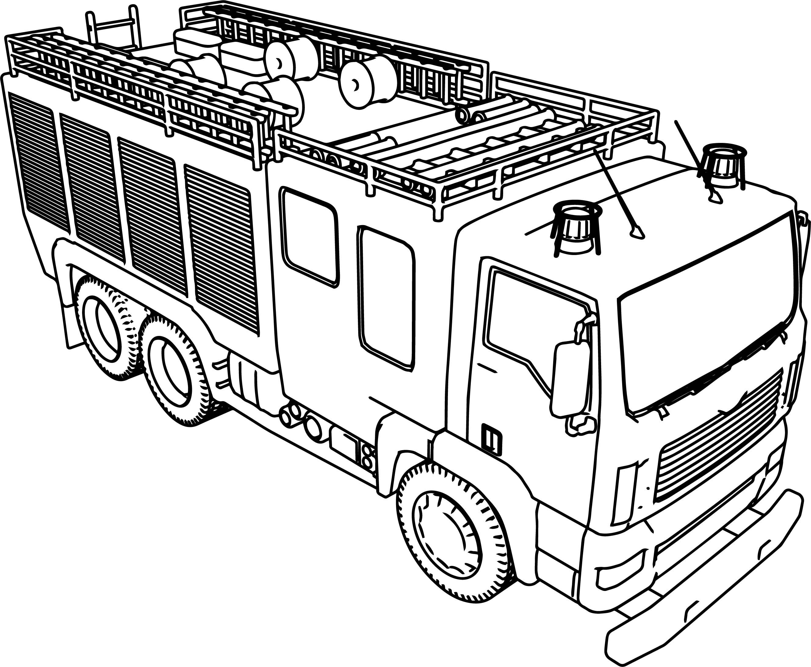 Awesome Big Fire Truck Coloring Page With Images