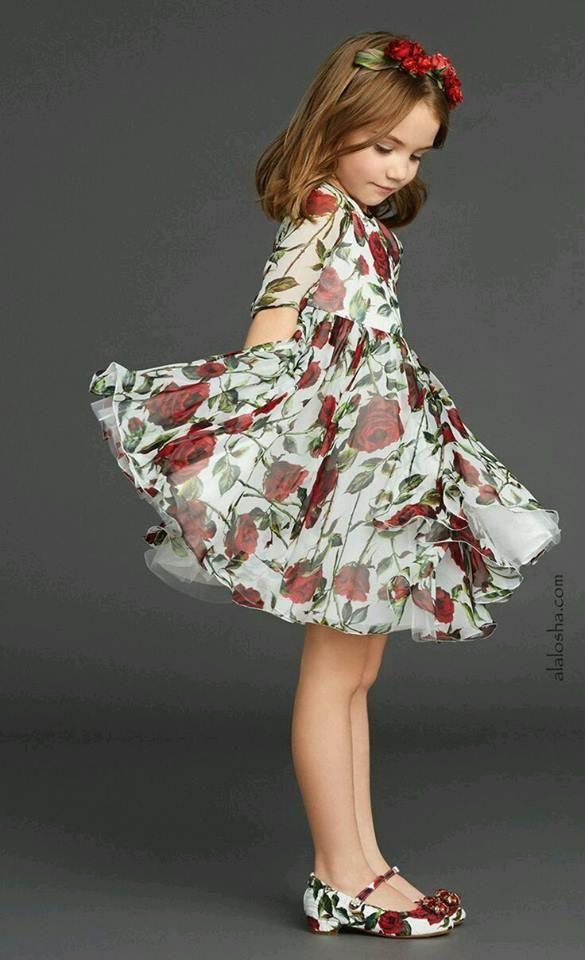 Vestidos Floreados para Niñas - de moda este verano  d6c36b0c2d0b