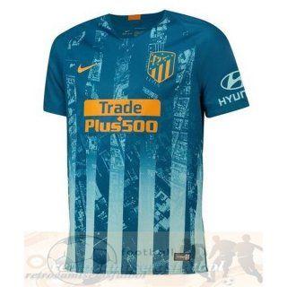 3b389527aabfa Tercera Camiseta Atlético Madrid 2018 2019 Azul Uniformes Originales ...