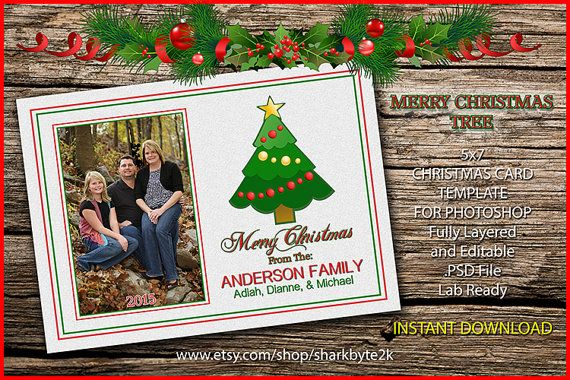Pin On Photoshop Christmas Card Template