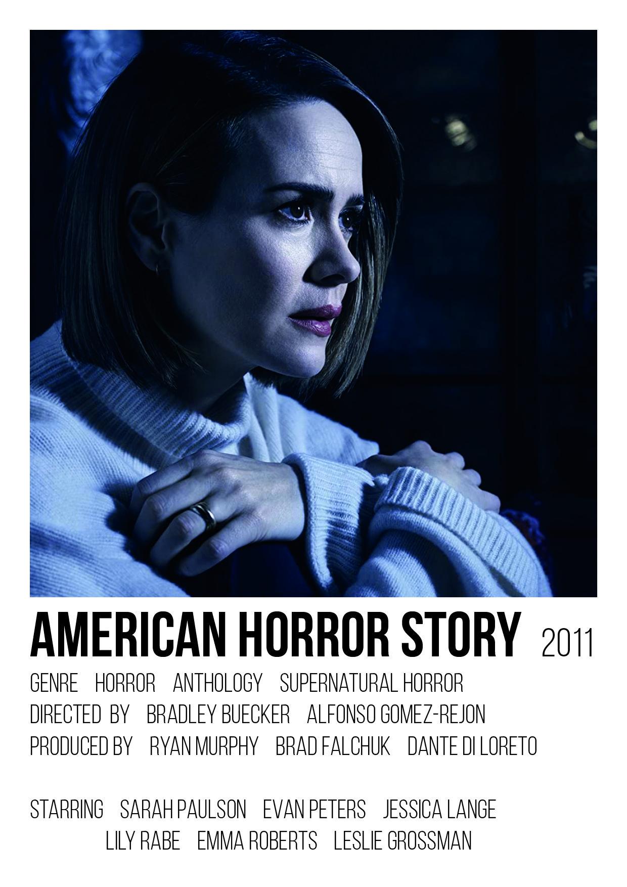 american horror story polaroid poster