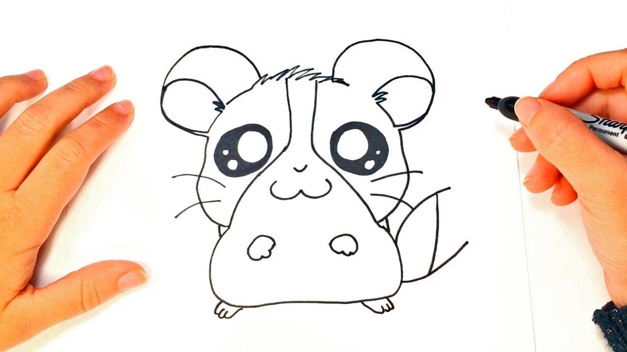 Como Dibujar Un Hamster Kawaii Paso A Paso Hamster Kawaii Hamster Como Dibujar