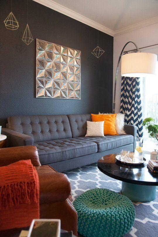 David Jeremy S Cozy Colorful Style Collaboration Living Room Decor Gray Living Room Decor Grey Sofa Wall Decor Living Room