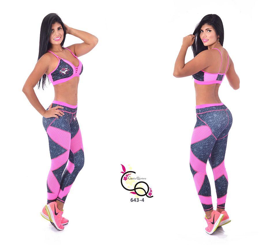 935087c40d2 Ropa Gimnasio Conjunto Para Mujer Ref. 643-4 Diseñadora Colombiana Claudia  Quintero