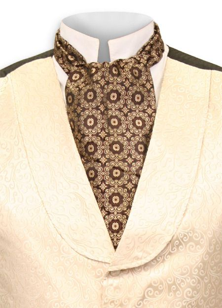 Medallion Ascot Brown Victorian mens clothing